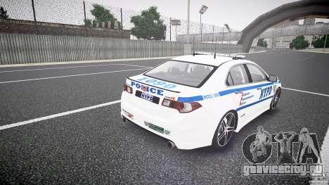 Honda Accord Type R NYPD (City Patrol 1090) ELS для GTA 4 вид сбоку