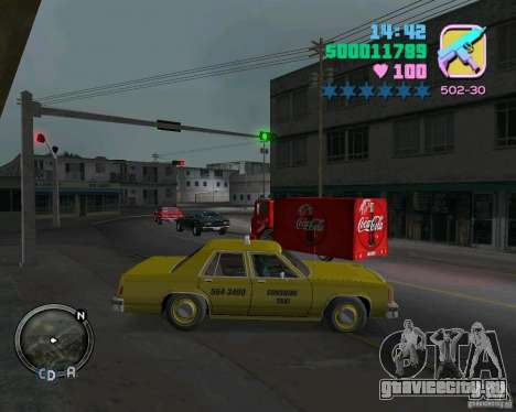 Ford Crown Victoria LTD 1985 Taxi для GTA Vice City вид слева