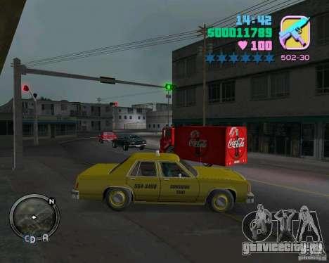 Ford Crown Victoria LTD 1985 Taxi для GTA Vice City вид слева
