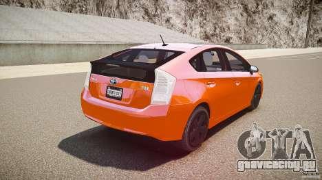 Toyota Prius 2011 для GTA 4 вид снизу