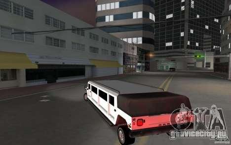 HUMMER H1 limousine для GTA Vice City вид сзади слева