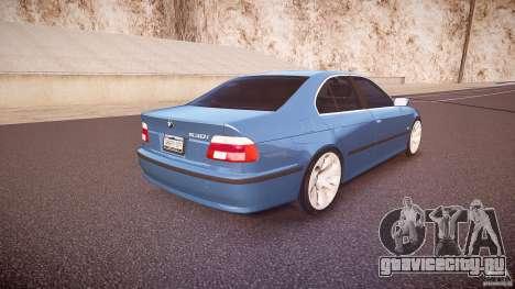 BMW 530I E39 e63 white wheels для GTA 4 вид сверху