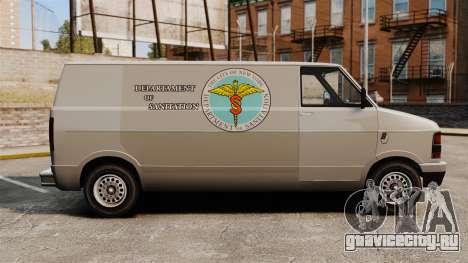Новые раскраски для фургона Pony для GTA 4 вид слева