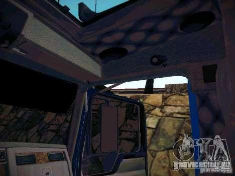 Kenworth W900 для GTA San Andreas вид изнутри