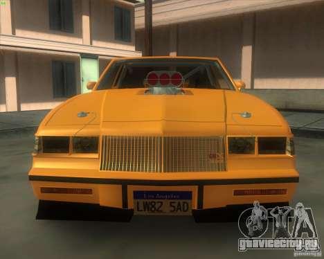 Buick GNX pro stock для GTA San Andreas вид справа