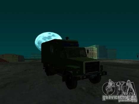 ГАЗ 3309 Автозак для GTA San Andreas вид сзади