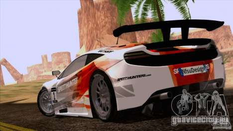 McLaren MP4-12C Speedhunters Edition для GTA San Andreas вид слева