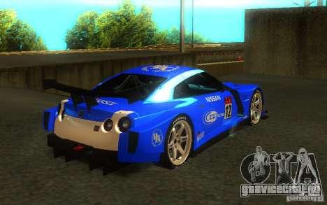Nissan Skyline R35 GTR для GTA San Andreas вид слева