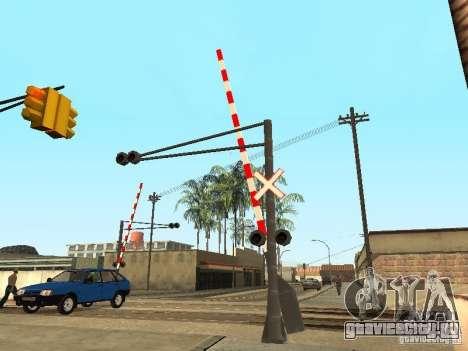 ЖД Переезд RUS для GTA San Andreas третий скриншот