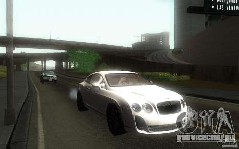 Bentley Continental SS для GTA San Andreas вид сзади