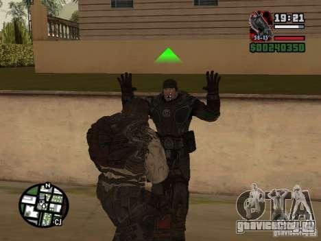 Локаст Grunt из Gears of War 2 для GTA San Andreas четвёртый скриншот