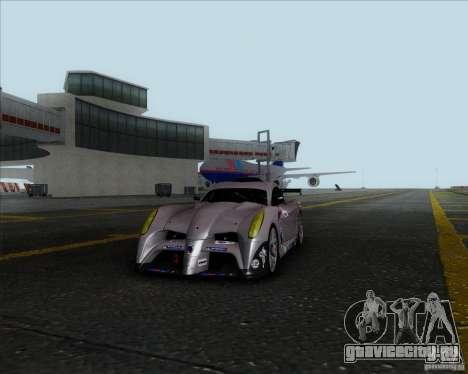 Panoz Abruzzi Le Mans V1.0 2011 для GTA San Andreas вид сзади слева
