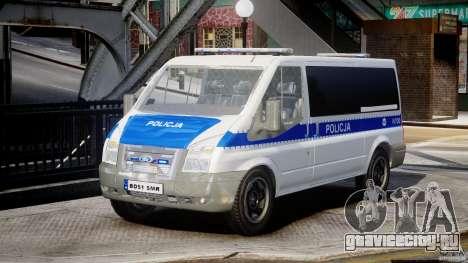 Ford Transit Polish Police [ELS] для GTA 4