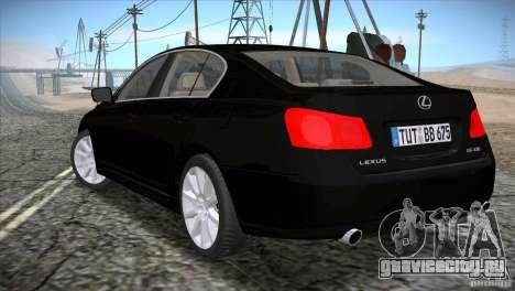 Lexus GS430 для GTA San Andreas вид слева
