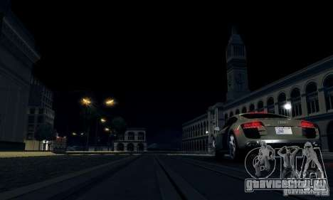 Audi R8 5.2 FSI Quattro для GTA San Andreas вид сзади слева