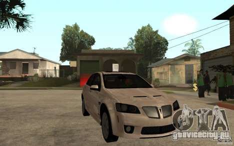 Pontiac G8 GXP 2009 для GTA San Andreas вид сзади