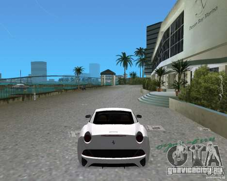 Ferrari California для GTA Vice City вид слева