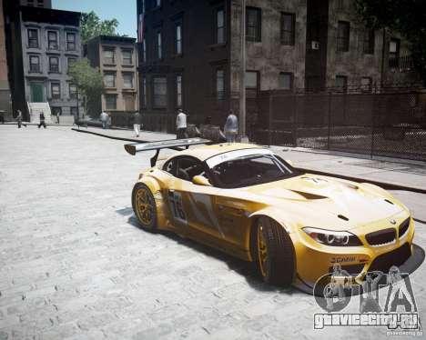 BMW Z4 GT3 2010 для GTA 4 вид справа
