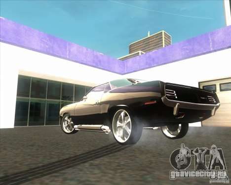 Plymouth Barracuda для GTA San Andreas вид сзади