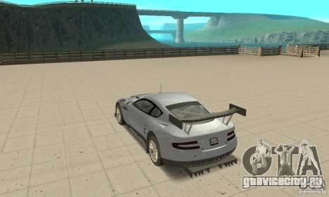 Aston Martin DBR9 (v1.0.0) для GTA San Andreas вид сзади слева