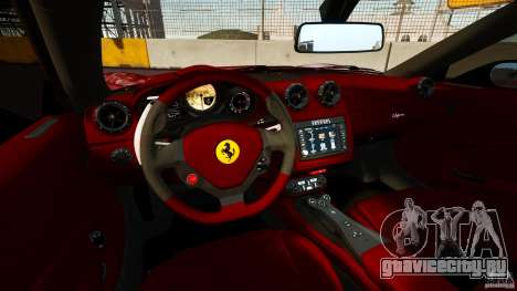 Ferrari California Novitec для GTA 4 вид сзади