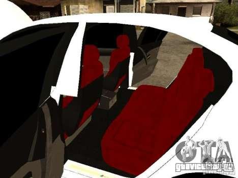 Bmw M5 Ls Ninja Stiil для GTA San Andreas вид изнутри