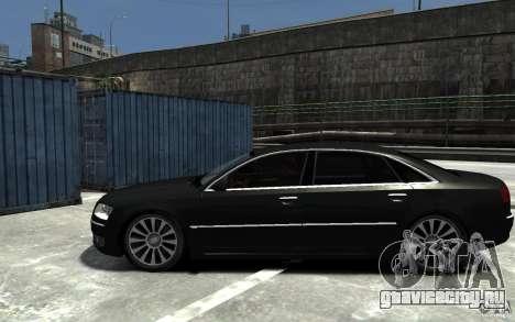 Audi A8L W12 Quattro для GTA 4 вид слева