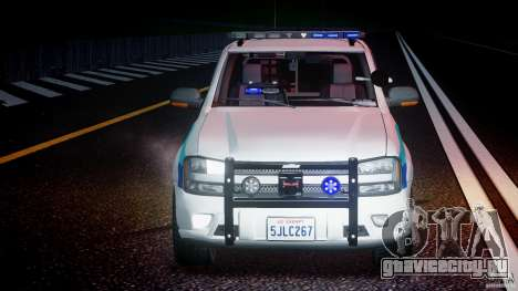 Chevrolet Trailblazer Police V1.5PD [ELS] для GTA 4 вид сверху
