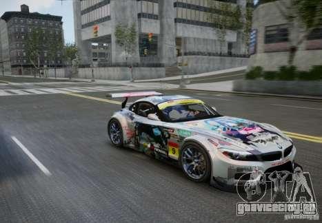 BMW Z4 GT3 2010 V.2.0 для GTA 4 вид справа