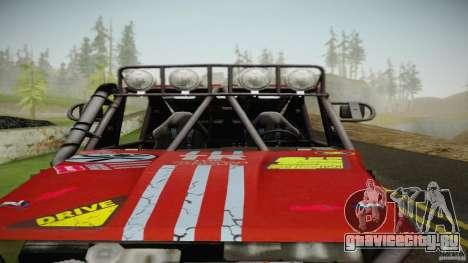 Buggy Off Road 4X4 для GTA San Andreas вид сзади слева