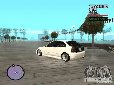 Honda Civic EK9 JDM для GTA San Andreas вид слева