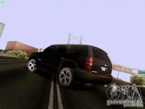 Chevrolet Tahoe 2009 Unmarked для GTA San Andreas вид сзади слева