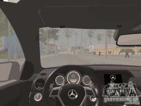 Mercedes-Benz C63 AMG Coupe Black Series для GTA San Andreas вид сверху