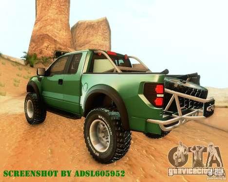 Ford F150 2011 SVT RapTor для GTA San Andreas вид сзади