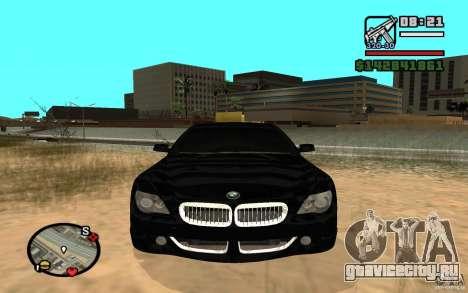 BMW M6 2006 для GTA San Andreas вид слева