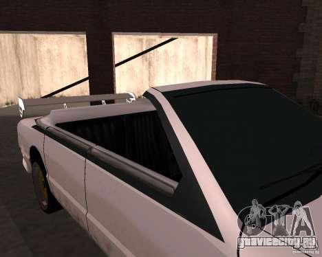 Taxi Cabrio для GTA San Andreas вид изнутри