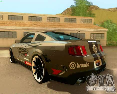 Ford Mustang Boss 302 2011 для GTA San Andreas вид снизу
