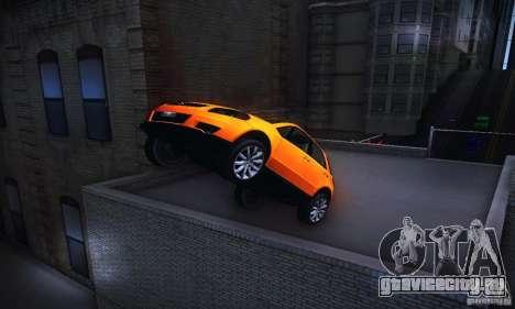 Suzuki SX4 Sportback Black 2011 для GTA San Andreas вид сзади