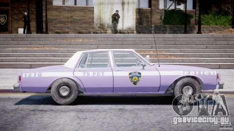Chevrolet Impala Police 1983 v2.0 для GTA 4 вид сбоку