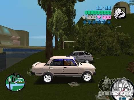 ВАЗ 2107 для GTA Vice City вид справа