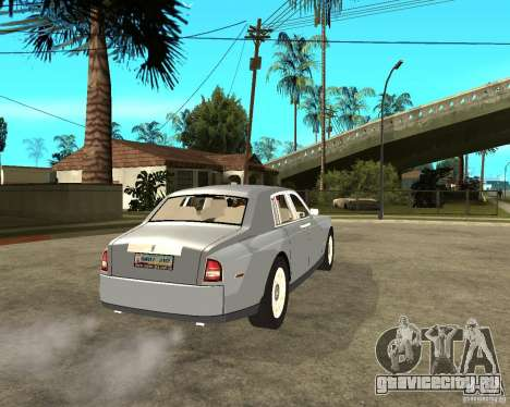 Rolls-Royce Phantom (2003) для GTA San Andreas вид сзади слева