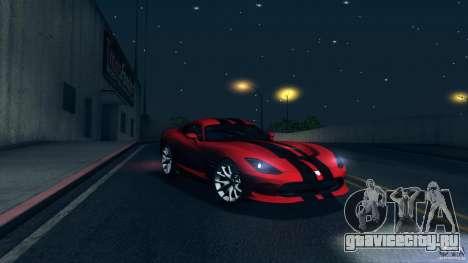 Dodge SRT Viper GTS 2012 V1.0 для GTA San Andreas колёса