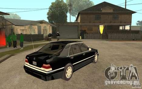 Mercedes-Benz S600 V12 W140 1998 V1.3 для GTA San Andreas вид справа