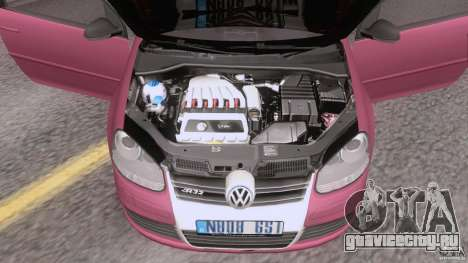 VW Golf 5 R32 2006 StanceWorks для GTA San Andreas вид сзади