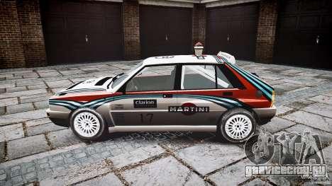 Lancia Delta Integrale Martini 1992 для GTA 4 вид слева