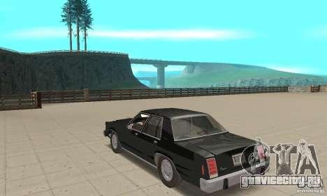 Ford LTD Crown Victoria 1985 MIB для GTA San Andreas вид сзади слева
