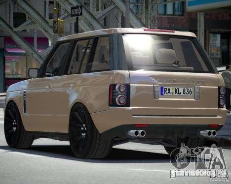 Land Rover SuperСharged для GTA 4 вид справа