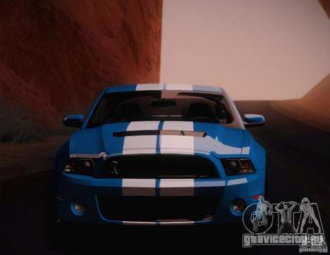 Ford Shelby GT500 2013 для GTA San Andreas вид сзади слева