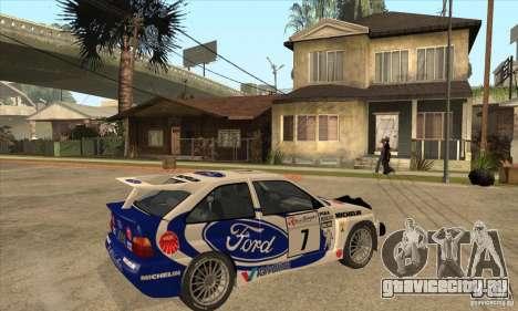 Ford Escort RS Cosworth для GTA San Andreas вид сверху
