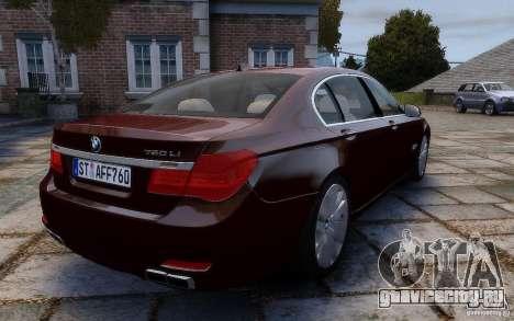 BMW 760Li 2011 для GTA 4 вид сзади